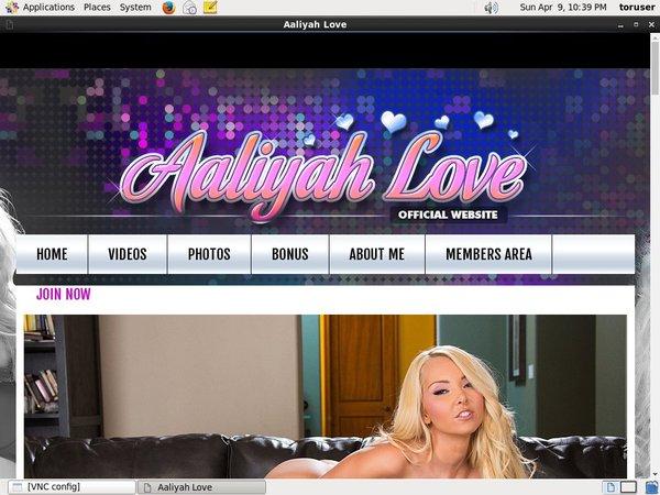 Aaliyah Love Working Accounts