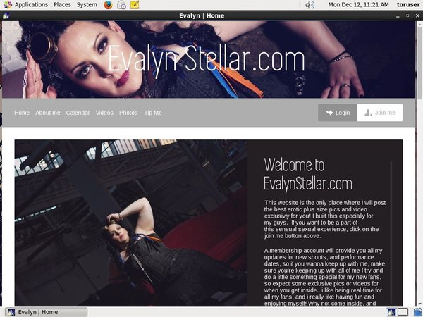 Evalynstellar.modelcentro.com Mobile Accounts