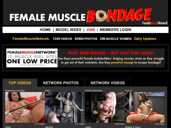 Femalemusclebondage.com With Iphone