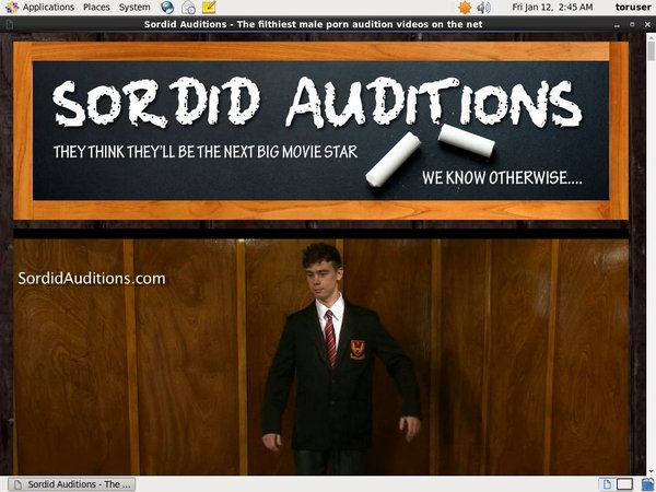 Free Account Of Sordid Auditions