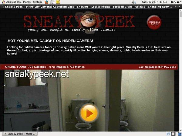 Sneaky Peek Discreet