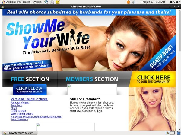 Show Me Your Wife Free Logins