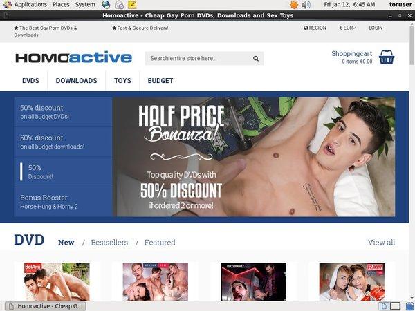 Homoactive.com Discount Code