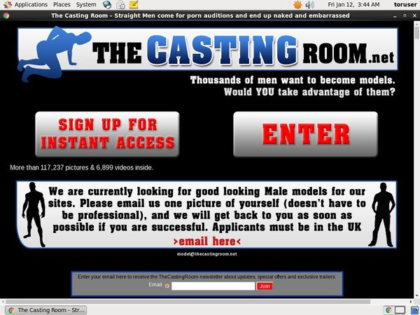 The Casting Room Daily Passwords