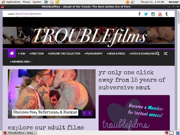 Troublefilms.com With Webbilling.com